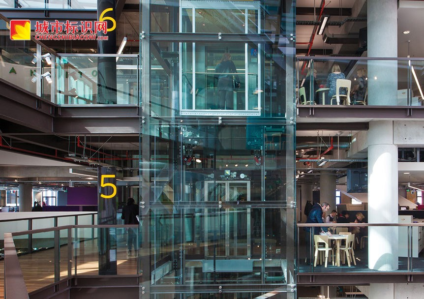 ASB北码头银行总部标识系统设计©sandersdesign