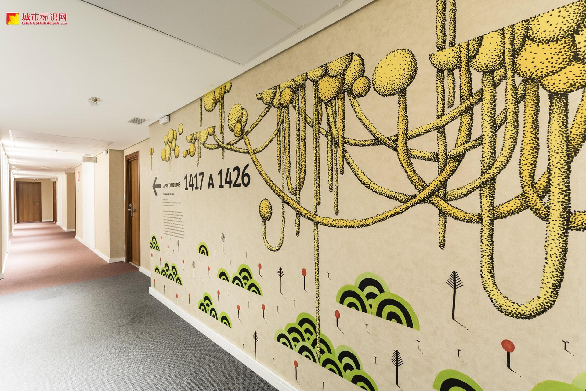华美达安可酒店标识系统设计© Greco Design
